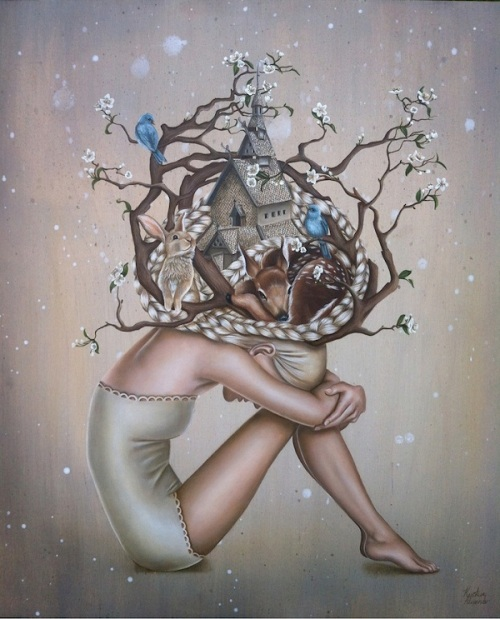(http://bloggedd.com/beautiful-surreal-paintings-of-daydreaming-maidens/)